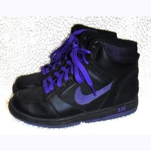 Nike Air black/purple Hi-top shoes #333889